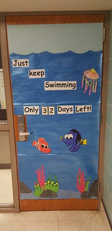 Classroom door!  Countdown to summer break!