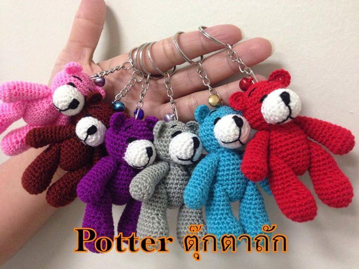 Crochet Amigurumi Keychain Free Pattern : Best crochet keychains images key fobs key