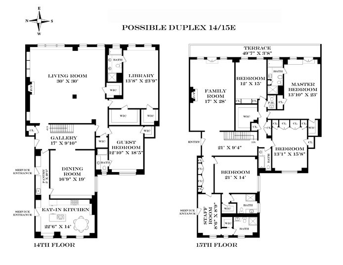 1000 images about apartment floor plans on pinterest for Apartment floor plans new york city