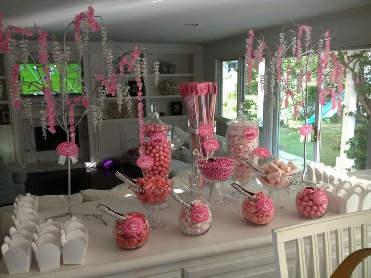 Cute Little Pink Candy Buffet Table Candy Buffets
