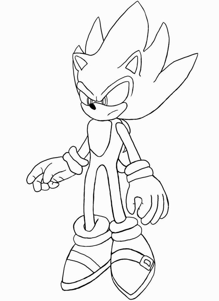 Super Sonic Coloring Pages | Coloring pages, Coloring ...