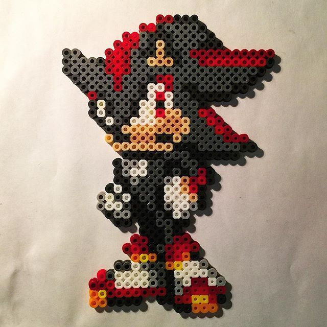 Shadow Sonic perler beads by rabidperler