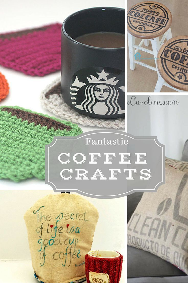 Coffee is my favourite drink.  Here I have rounded up 12 fantastic coffee crafts, you can make for your home or as gifts for the coffee lover in your life.