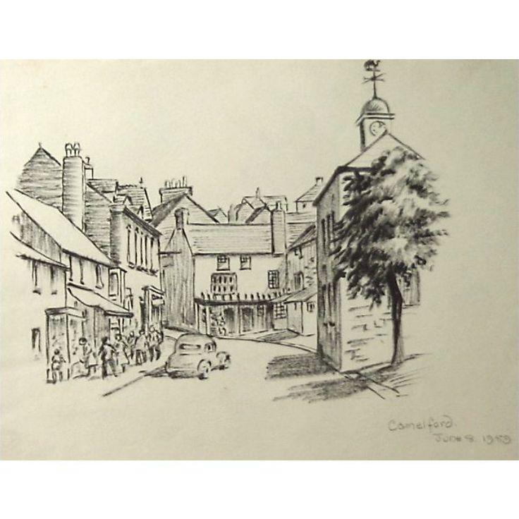 Original Fore Street Camelford Cam Pol Cornwall Holloway Bristol Savages Drawing  .jpg (850×850)