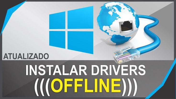 Como Baixa e Instalar Drivers Para PC sem conexao com a internet Offline...