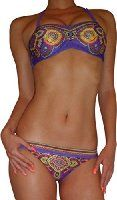 Ninimour Damen Bikini Satz Paisley Push-up Tops und Gebändert Low-rise Bottom Wattierten Cups Triangel Badeanzug: Amazon.de: Bekleidung