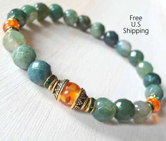 Hey, I found this really awesome Etsy listing at https://www.etsy.com/listing/159577958/healing-amber-moss-agate-energy-mala