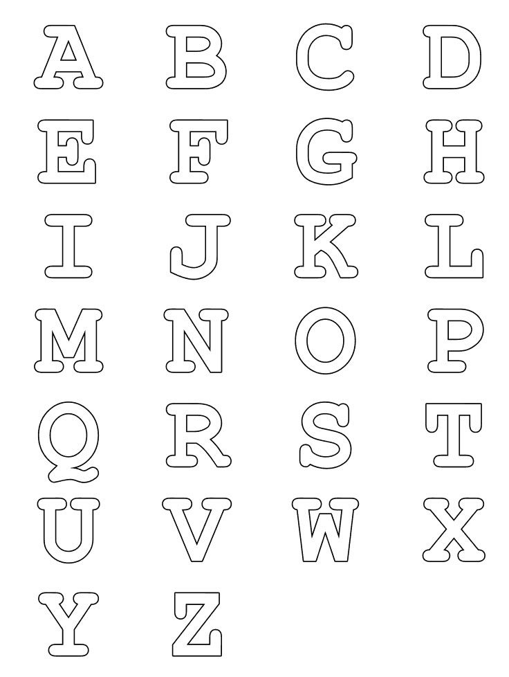 Alphabet Stencil Coloring Pages : Best color numbers letters images on pinterest