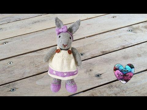 Amigurumi Mme Lapine tricot 1/3 / Miss Bunny amigurumi knit (english subtitles) - YouTube