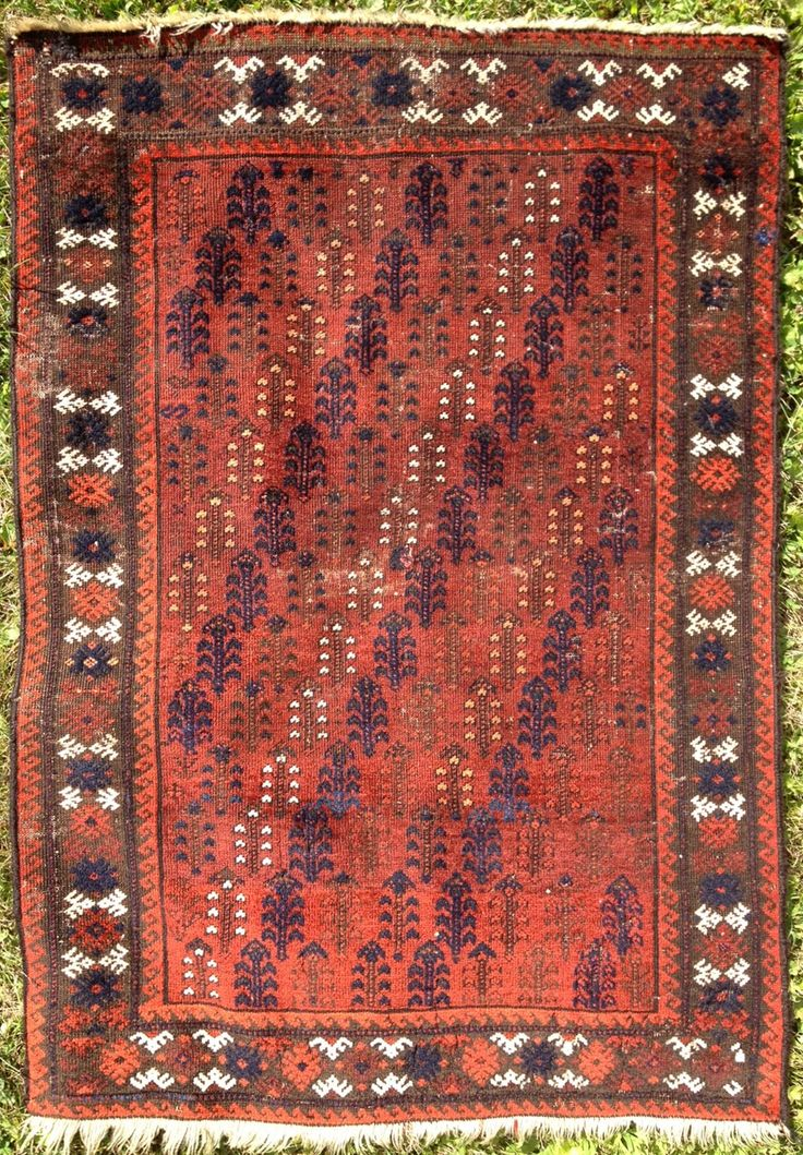 Baluch Rug With Rows Of Flowers Northwest Afghanistan, Late 19th Century,  ...