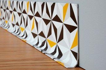5 Battiscopa Origami Style Senape e Nero