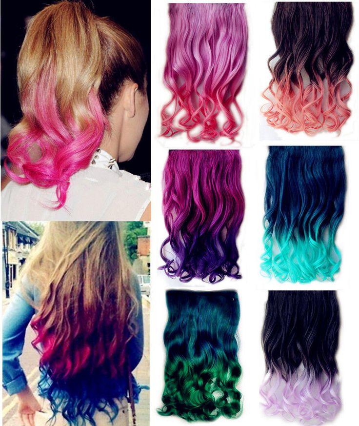 FLYNECESSITY BOUTIQUE | Curly Rainbow Hair extension clipin | Online Store Powered by Storenvy