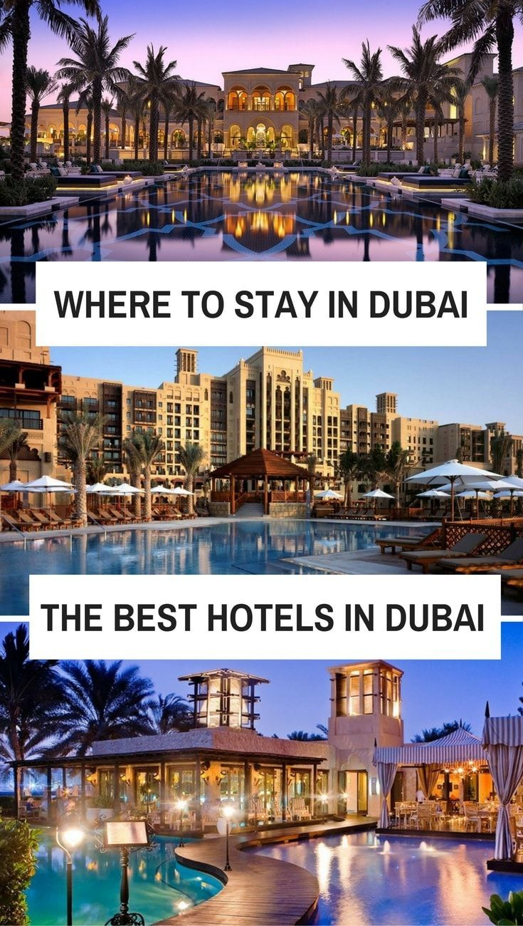 Where to stay in Dubai, the best hotels in Dubai, the best luxury hotels, mid-range hotels and budget hotels in Dubai