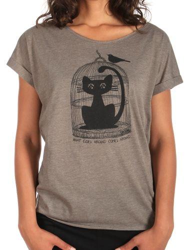 Cat Trap Tee [olive mel.] // IRIEDAILY Tees Women // FALL/WINTER 2014: http://www.iriedaily.de/women-id/women-tees/ #iriedaily