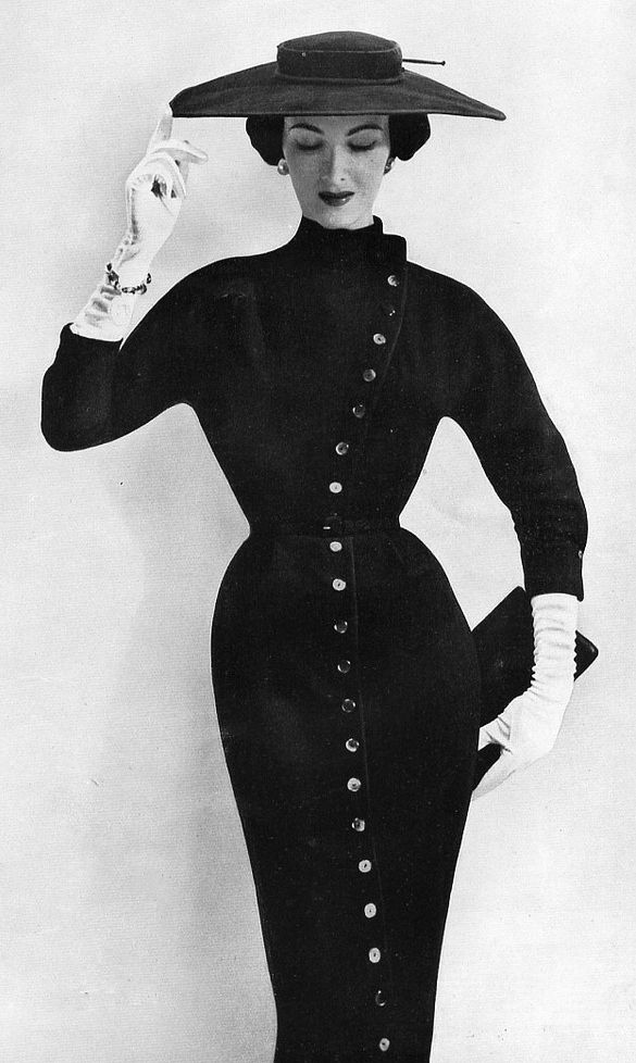 'Mayoress' dress by Marcus of London, Vogue UK October 1953.