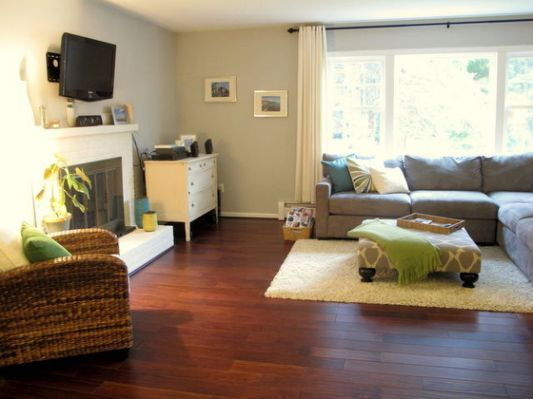 Raised Ranch living room from