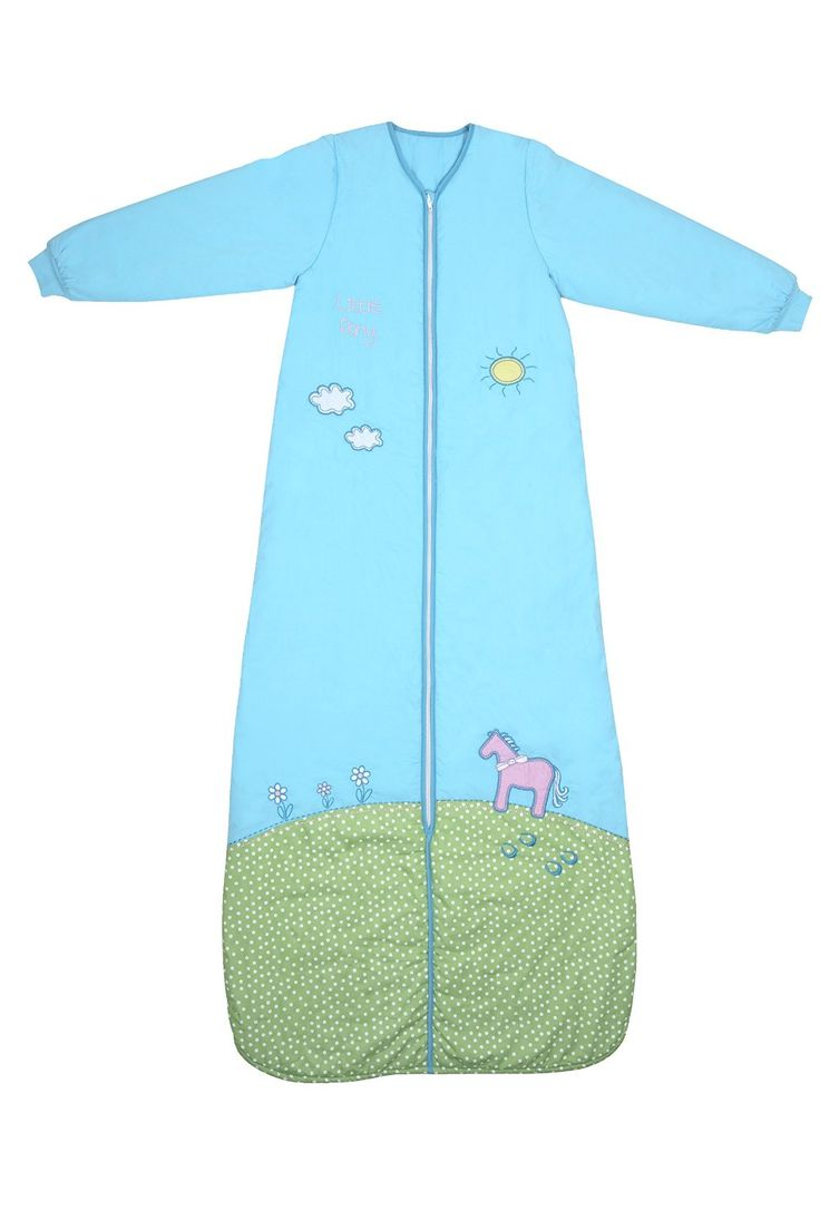 This Winter Sleep Sack Is Made From Cotton With A Soft Padded Polyester Fleece And Long Sleeves Its Beautiful Pony Applique Embroidery
