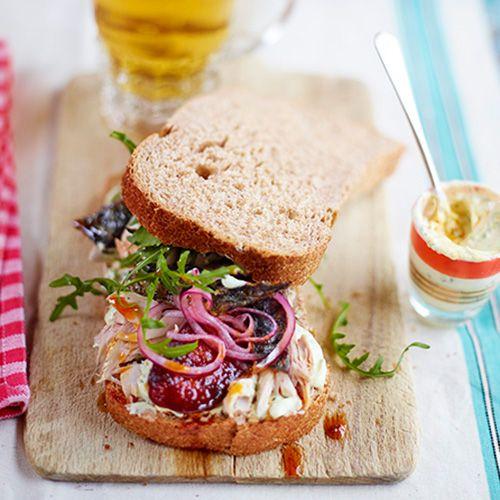 mackerel and chorizo sandwich