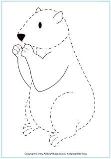 Groundhog Day Printables (print the tracing page for Leah)