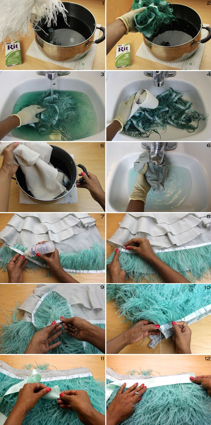 make an Ostrich Feather Skirt without sewing?!