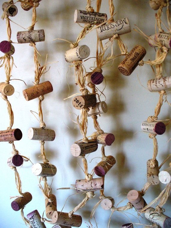 Rustic Wedding Cork Garland Eco Friendly Winery by kzannoart, $36.00 #wedding #wine #wedding2014