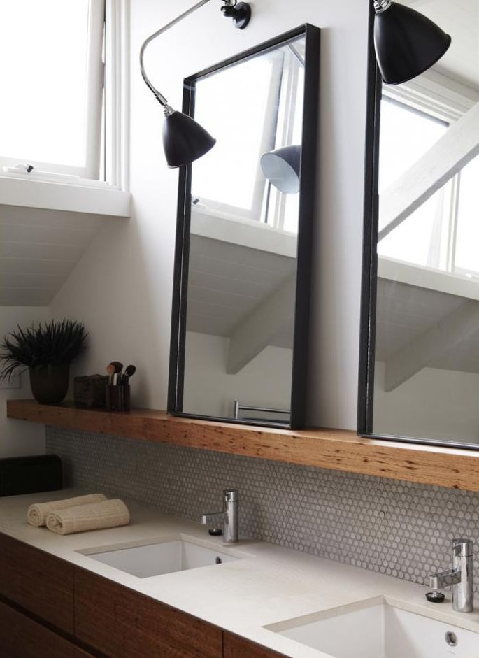 Love this light and the use in the bathroom