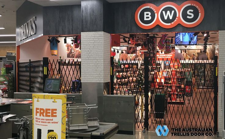 BWS SELECT QUALITY PORTABLE FENCING  The Australian Trellis Door Company (ATDC) is proud to announce that it is the preferred supplier of portable fencing to the BWS liquor group nationally across Australia.  BWS (or Beer Wine & Spirits) is an Australian chain of liquor stores  owned by Woolworth's Endeavour Drinks which also owns Dan Murphy's,Cellarmasters and Pinnacle Liquor.It is Australia's largest retailer of liquor with well over 1400 Stores across Australia.