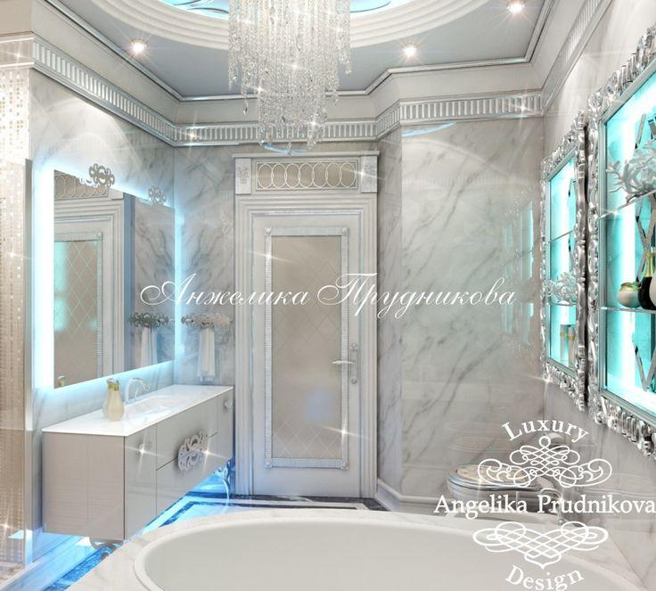 Дизайн ванной комнаты в стиле Модерн (ЖК Махаон)