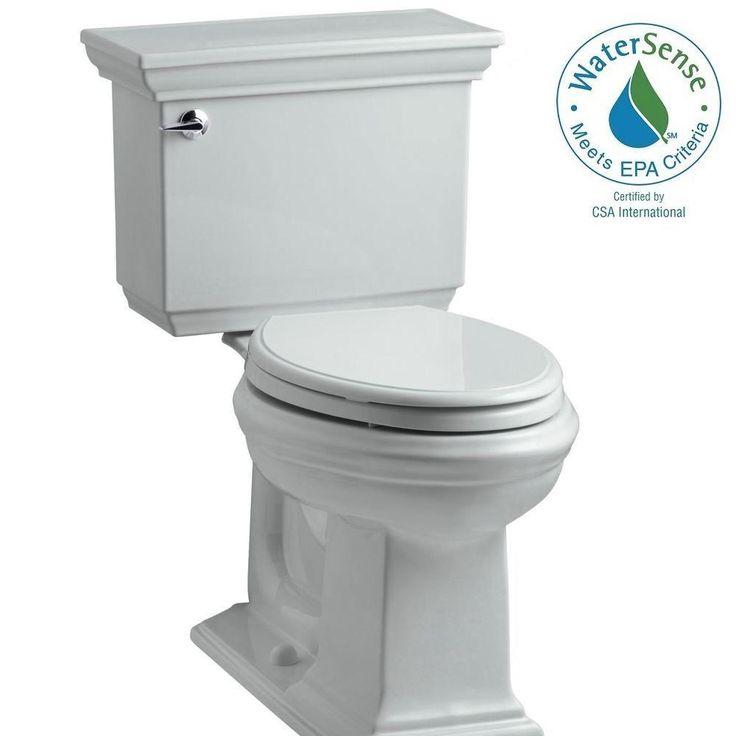 KOHLER Memoirs Stately 2-piece 1.28 GPF Single Flush Elongated Toilet with AquaPiston Flush Technology in