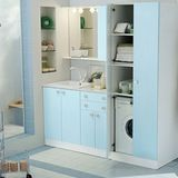 For those readers lucky enough to have a working laundry setup in your apartment bathroom, you may or may not care that the hulking washing and drying machines can sometimes be an eyesore. After the jump are five strategies for incorporating this luxury function into your beautiful space.