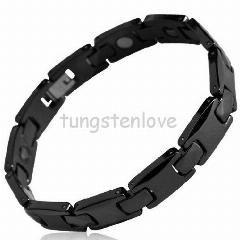 [ 18% OFF ] European Bracelets Germanium Health Magnetic Therapy Radiation Fatigue Bracelet Ceramic Jewelry Male Ceramic Health Bracelet