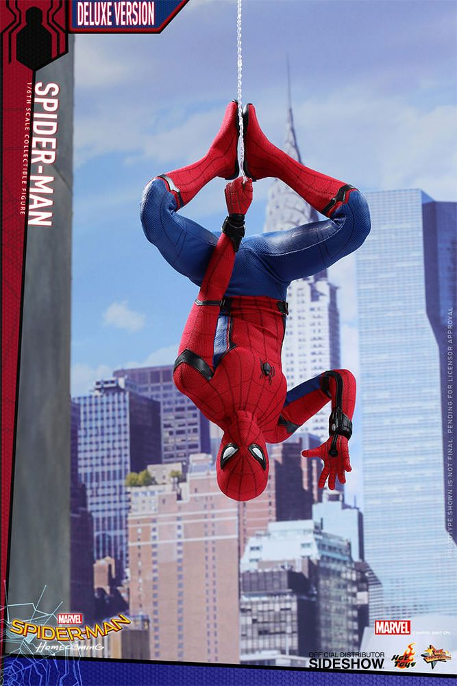 Marvel Spider-Man Deluxe Version Sixth Scale Figure by Hot T | Sideshow Collectibles
