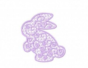 Freestanding Lace Bunny Machine Embroidery Design Freebie