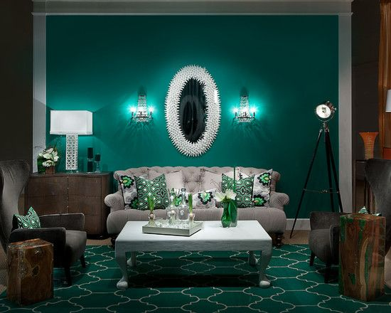 Contemporary And Elegant Teal Living Room Ideas Also