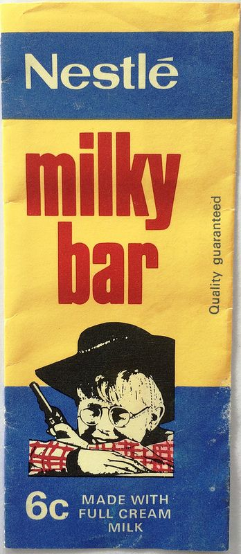 1970s Nestle Milky Bar Kids Wrapper - Front