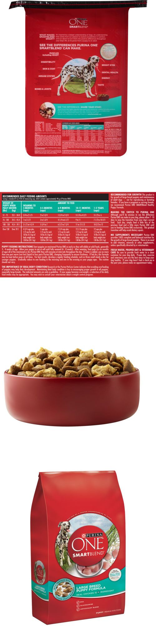 Dog Food 66780: Purina One Smartblend Large Breed Puppy Formula Puppy Premium Dog Food 16.5 Lb. -> BUY IT NOW ONLY: $33.95 on eBay!
