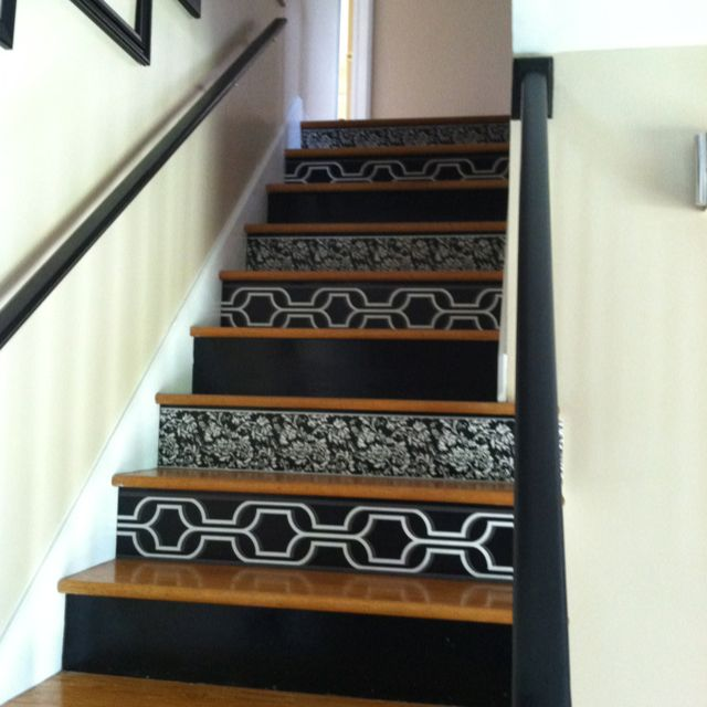 Wallpaper On Stair Risers For The Home Pinterest