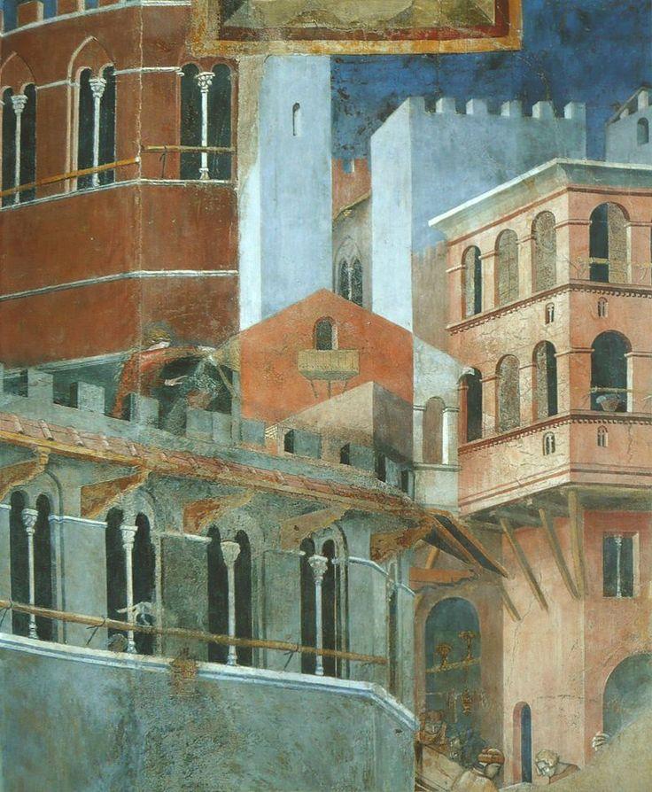 Ambrogio Lorenzetti - Effetti del Buono Governo, dettaglio - affresco - 1338-1339 - Siena - Palazzo Pubblico, Sala dei Nove o Sala della Pace