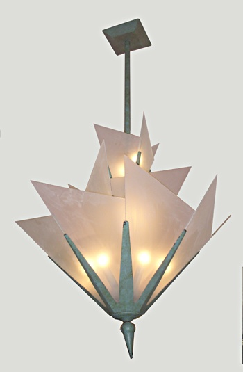 Vintage and Antique Lighting : Art Deco Style Chandelier
