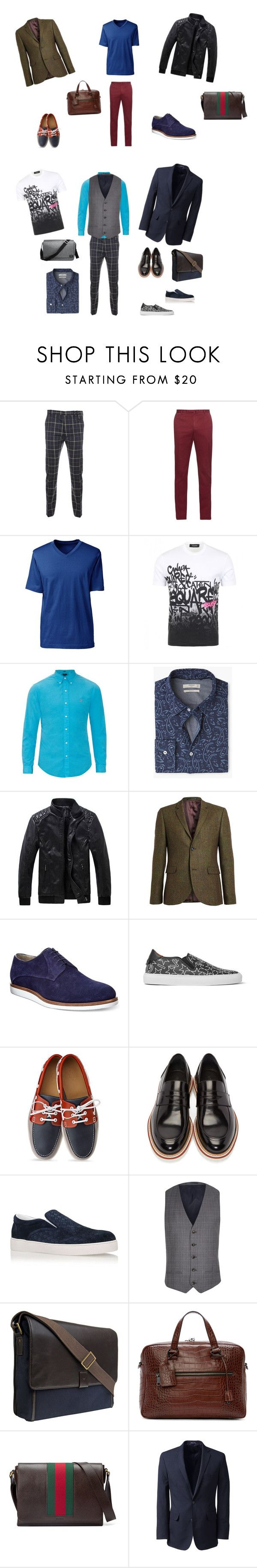 """""""2"""" by madlily86 on Polyvore featuring косметика, Vivienne Westwood Man, Incotex, Lands' End, Dsquared2, Polo Ralph Lauren, MANGO, Topman, HUGO и Givenchy"""
