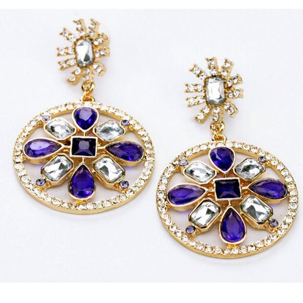Circle of Gems Earrings