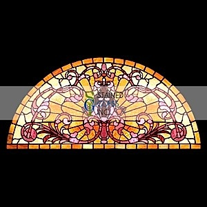 decorative glass window inserts. Stained Glass Window 193  Half Round Decorative insert from http www 10 best Moon Arch Ideas images on Pinterest