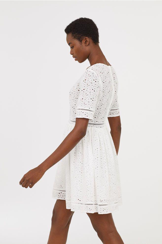 f7a4891733a9d Wyszywana sukienka | Clothes | White embroidered dress, White v neck ...