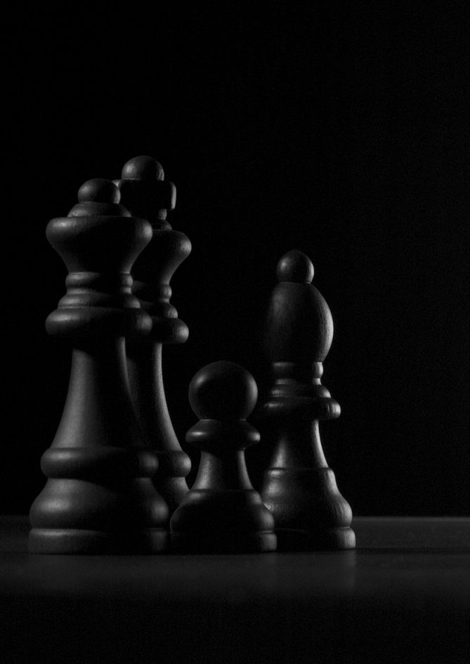 Black chess pieces on black. Random Inspiration 119
