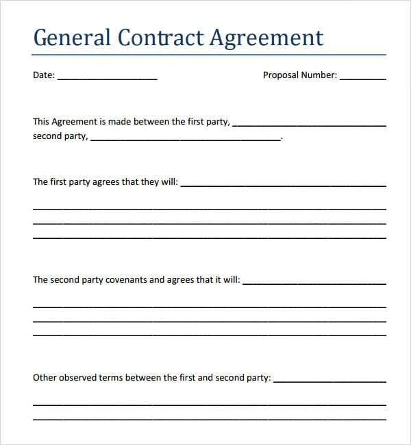 5 Contract Agreement Between Two Parties Samples Free