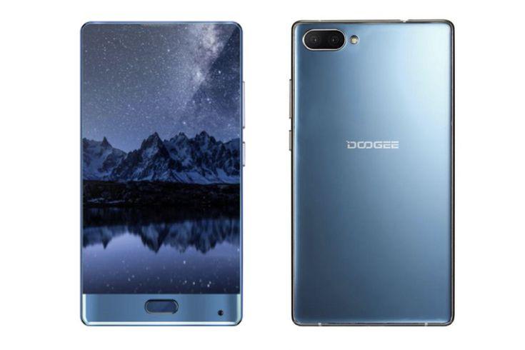 Впечатляващият Doogee Mix смартфон също няма рамка около три от страните на дисплея си, но е по-малък (5.5 инчов дисплей, вместо 6.44 в Mi Mix).
