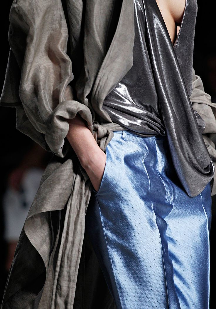 Haider Ackermann. Such beautiful fabrics, and draping. wow.