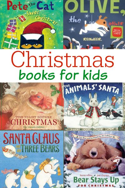 Christmas Books for Preschool and Kindergarten. A list of the best books to read aloud to young kids for Christmas.
