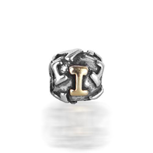 925 Silver Letter I Alphabet Bead Screw Core Chamilia Pandora Bead Style