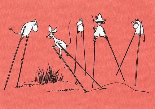 Trampoli Moomins by selphie10, via Flickr